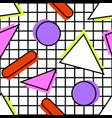 memphis pattern geometric vector image vector image