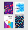 modern colorful abstract backgrounds with dynamic vector image vector image