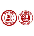 money back guarantee 30 days rubber stamp vector image vector image