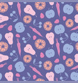 multicolored fruit and vegetables seamless pattern vector image