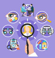 oculist icons circle composition vector image vector image
