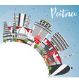 patna skyline with gray buildings blue sky and vector image vector image