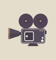 retro movie camera vector image vector image
