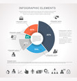 round infographics vector image