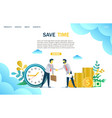 save time website landing page design vector image vector image