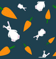 seamless pattern of carrots and bunny vector image