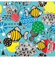 Seamless pattern with tropical fish in the sea vector image vector image
