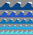 set horizontal seamless paper wavy borders vector image