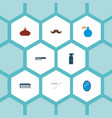 set of barbershop icons flat style symbols with vector image