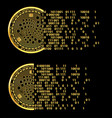 set of crypto currency iota golden symbols vector image vector image
