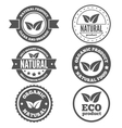 Set of vintage logo label badge logotype vector image vector image