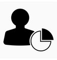 share holder icon vector image vector image