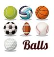 sport balls design vector image vector image