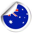 sticker design for flag of australia vector image vector image