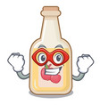 super hero apple cider isolated with mascot vector image vector image