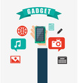technology gadget design vector image vector image
