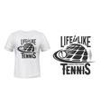 tennis sport school t-shirt print mockup vector image vector image