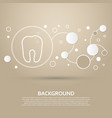tooth icon on a brown background with elegant vector image