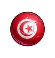 tunisian flag football - soccer ball vector image vector image