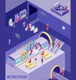 underground isometric poster vector image vector image