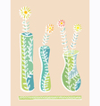 Vases and flowers vector image