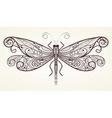 vector dragonfly with unique pattern vector image