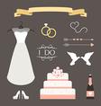 Vintage set of wedding and decorative eleme vector image