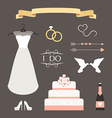 vintage set wedding and decorative eleme vector image