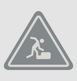 warning falling on the stairs road sign vector image vector image