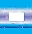 water background with frame vector image