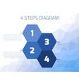 Four steps diagram vector image