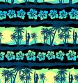 Tropical frangipani with green sunrise seamless vector image