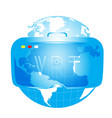 virtual reailty vector image
