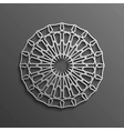 Islamic 3d on dark mandala round ornament vector image