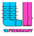 14 february male and female legs kiss of lovers vector image vector image