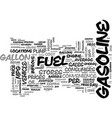 a coupon at the pump text word cloud concept vector image vector image