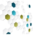 Abstract background with color hexagons vector image