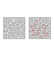 abstract square maze simple flat isolated on vector image vector image