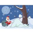 Adventures of Santa Claus Polar Bear Comics vector image vector image