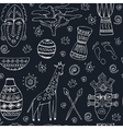 Africa sketch seamless pattern vector image vector image