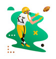 american foorball player catching the ball vector image