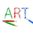 Art word drawn with pencils vector image