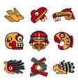 Aztec symbols vector image vector image