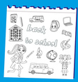 Back to school - set vector image