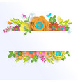 banner template floral paper art with butterfly vector image vector image
