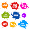 Business Colorful Icons - Sale Blots - Splashes vector image vector image