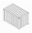 Cargo container icon isometric 3d style vector image vector image