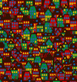 Cartoon background with houses vector image vector image