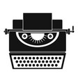 classic typewriter icon simple style vector image vector image