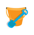colored sand bucket toy icon vector image